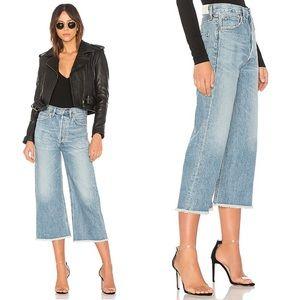 COH Emma High Rise Wide Leg Crop Button Fly Jeans